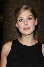 ROSAMUND PIKE at Late Night with Seth Meyers in New York