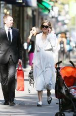 ROSAMUND PIKE Out Shopping in Paris
