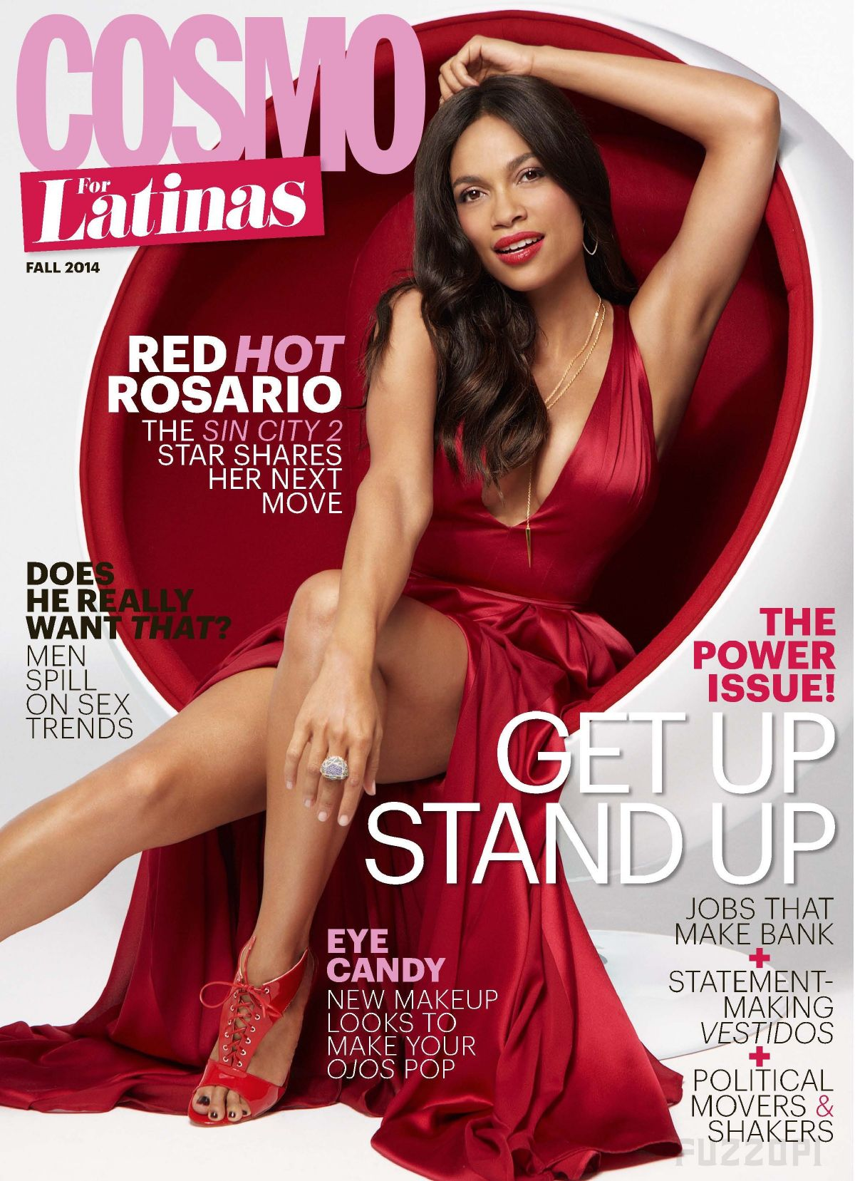 ROSARIO DAWSON in Cosmopolitan for Latinas Magazine, October 2014 Issue
