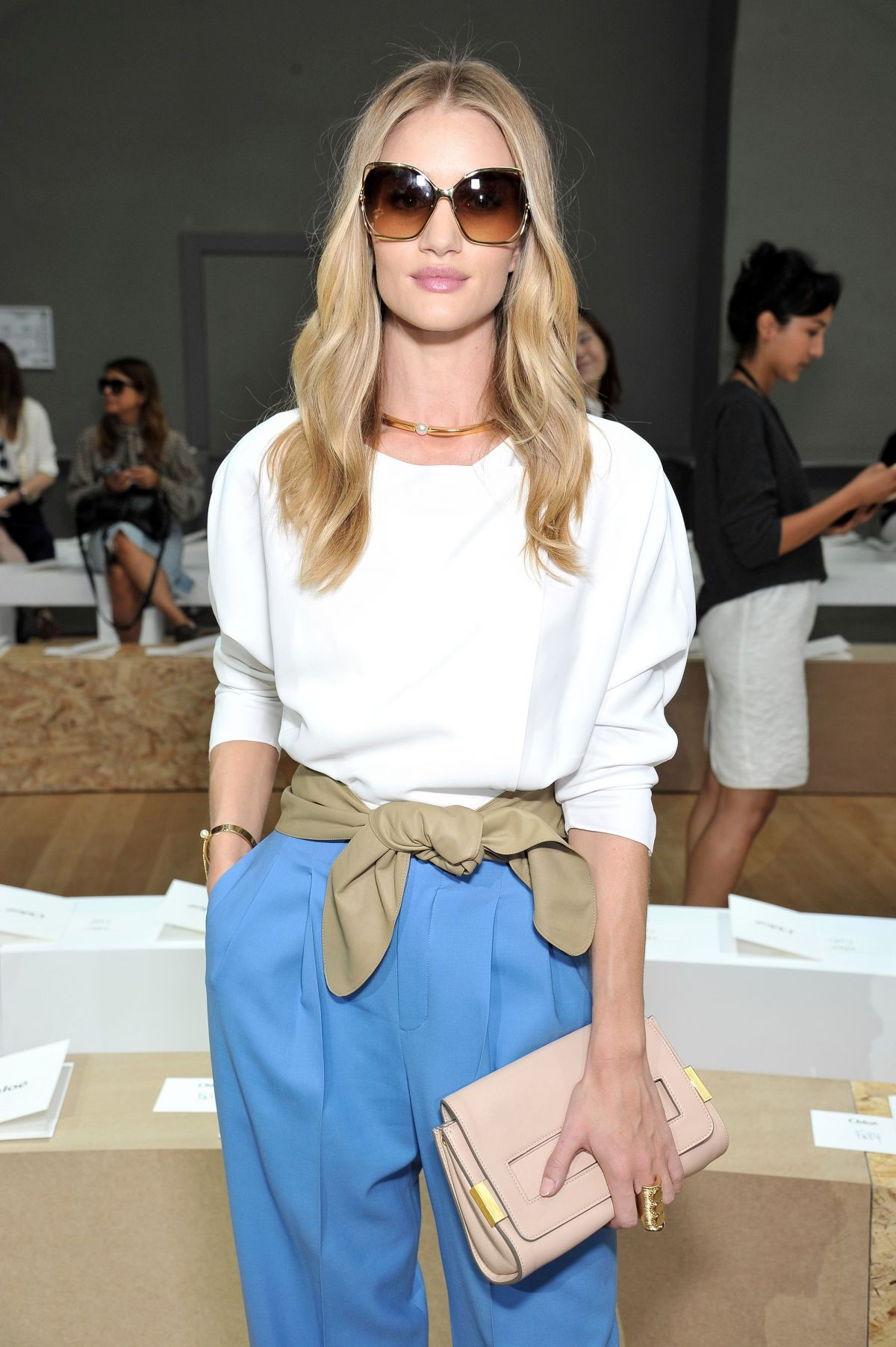 ROSIE HUNTINGTON-WHITELEY at Chloe Show at Paris Fashion Week