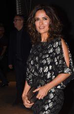 SALMA HAYEK at Saint Laurent Fashion Show in Paris