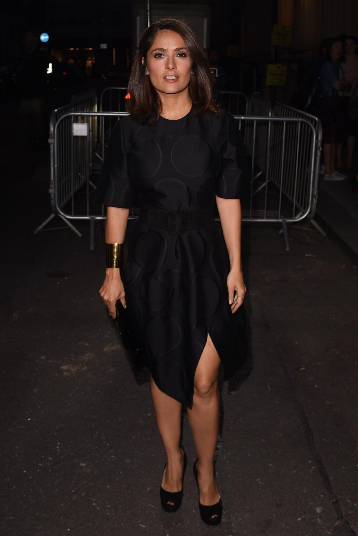 SALMA HAYEK at Stella Mccartney Green Carpet Collection Fashion Show in London