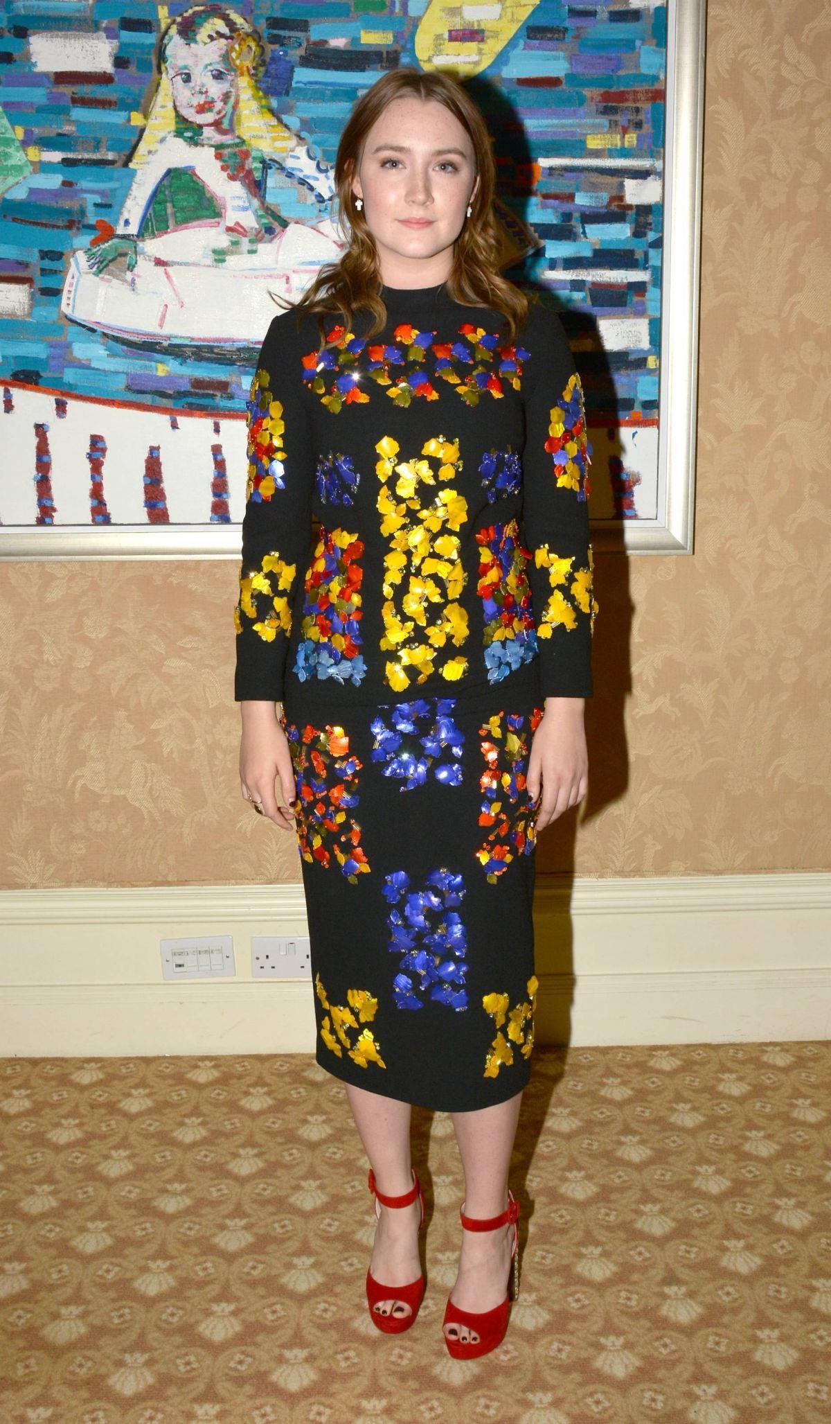 SAOIRSE RONAN at Ispcc Brown Thomas Fashion Show in Dublin