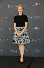 SARAH GADON at Dracula Untold Photocall in London