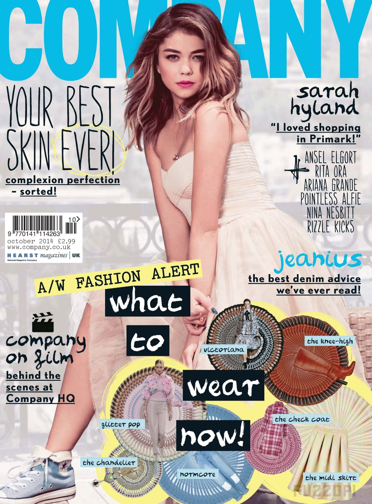 SARAH HYLAND on the Cover of Company Magazine, October 2014 Issue