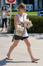 SARAH MICHELLE GELLAR in Shorts Out in Brentwood