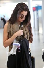 SELENA GOMEZ at Pearson International Airport in Toronto