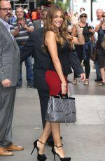 SOFIA VERGARA Arrives at Good Morning America in New York