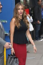 SOFIA VERGARA Arrives at Good Morning America in New York