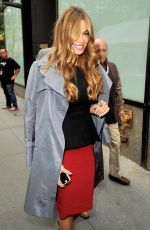SOFIA VERGARA on the Set of Access Hollywood in New York