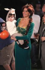 SOFIA VERGARA on the Set of Modern Family in Los Angeles