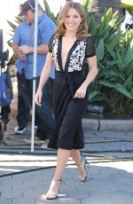SOPHIA BUSH on the Set of Extra in Universal City