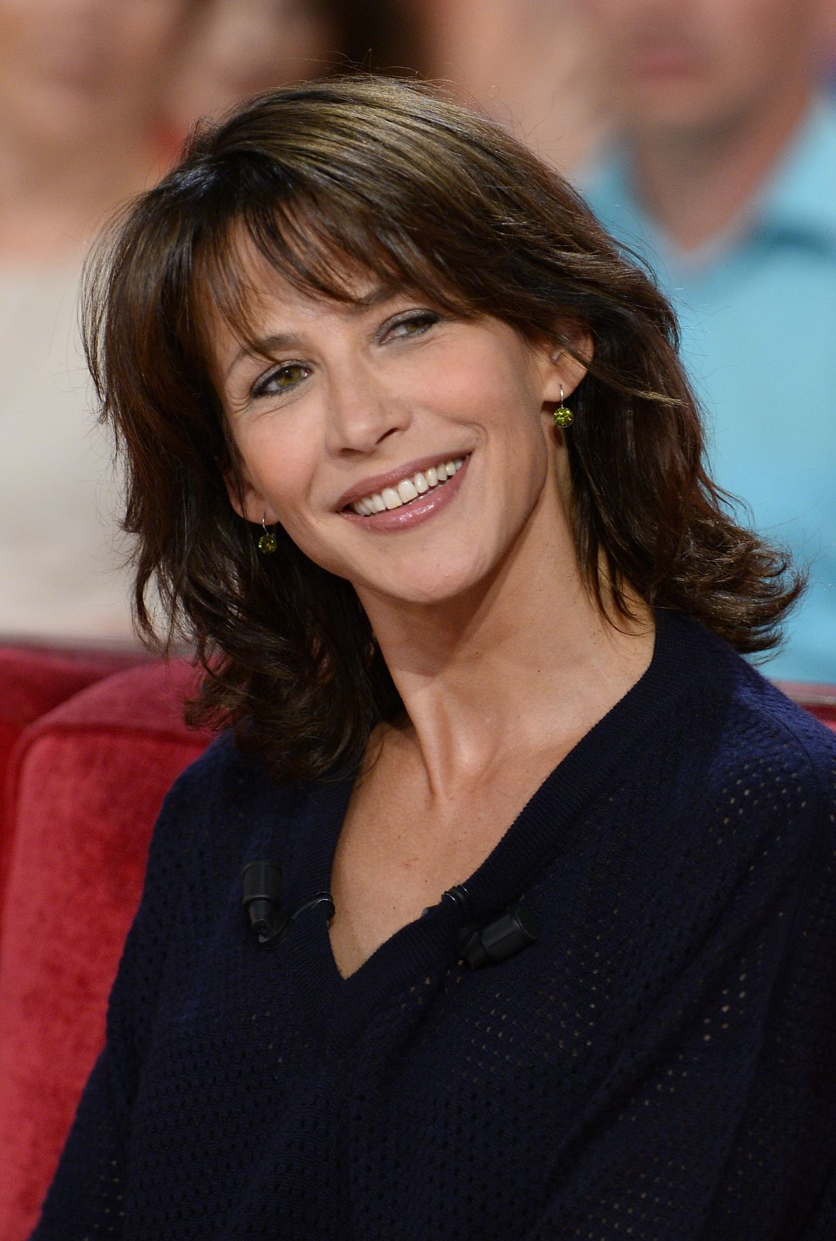 sophie marceau at vivement dimanche tv show in paris. Black Bedroom Furniture Sets. Home Design Ideas