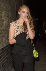 SOPHIE TURNER Leaves Chanel Party in London