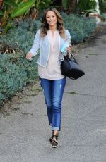 STACY KEIBLER Leaves Her House in Los Angeles