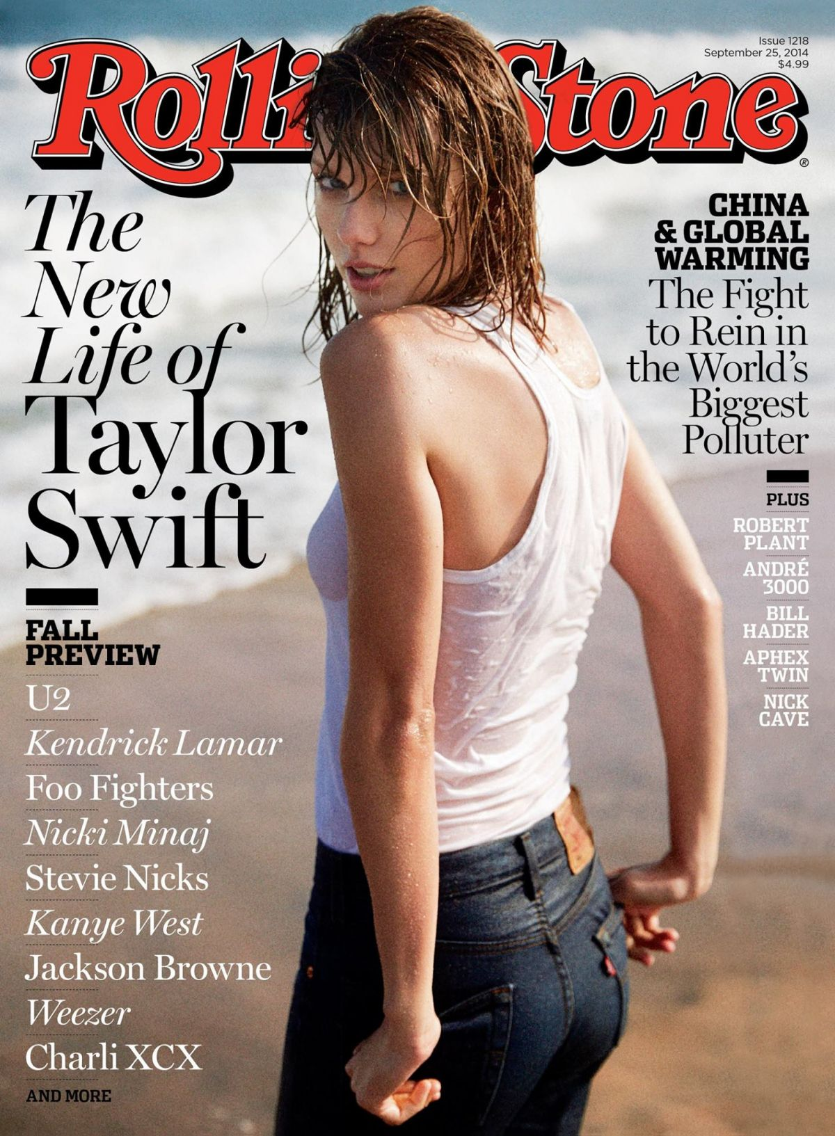 TAYLOR SWIFT in Rolling Stone Magazine, September 2014 Issue