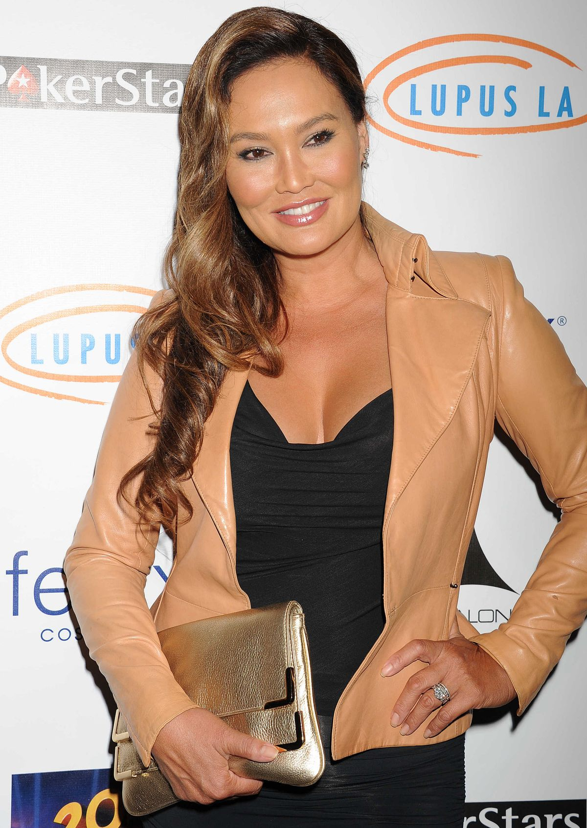 TIA CARRERE at Stars Get Lucky for Lupus Poker Tournament in Hollywood