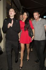 TULISA CONTOSTAVLOS and Friends Night Out in London