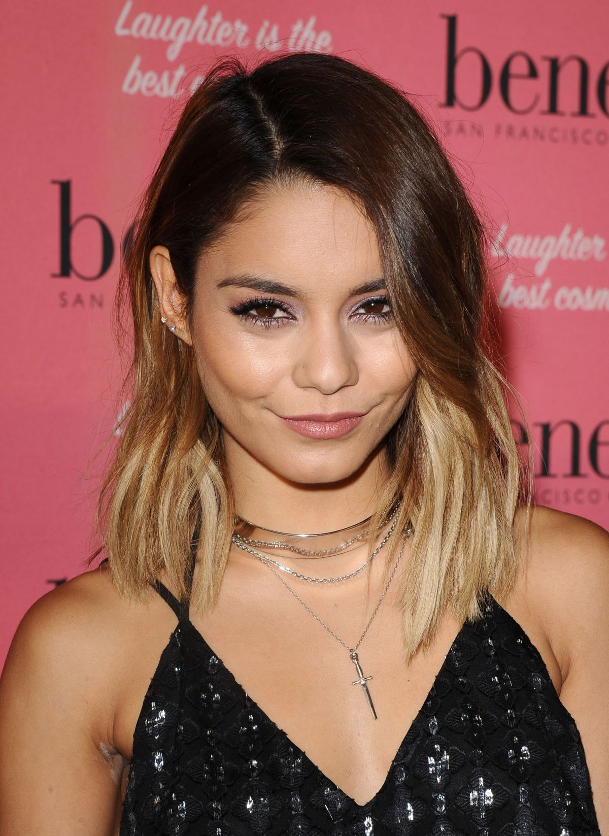 vaness hudgens at benefit cosmetics kick off national wing women weekend in los angeles hawtcelebs. Black Bedroom Furniture Sets. Home Design Ideas