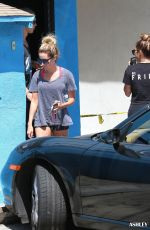 VANESSA HUDGENS and ASHLEY TISDALE Leaves Wundabar Pilates in Studio City