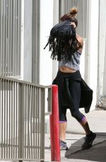 VANESSA HUDGENS Hiding From Paps Out in Studio City