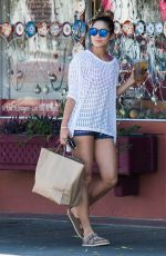 VANESSA HUDGENS Leaves a Furniture Store in Studio City