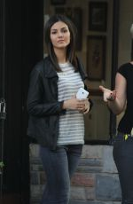 VICTORIA JUSTICE on the Set of Eye Candy in Brooklyn