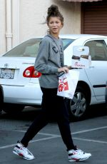 ZENDAYA COLEMAN Arrives at DWTS Studio in Hollywood