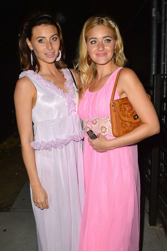 ALY and AJ MICHALKA Heading to Halloween Party