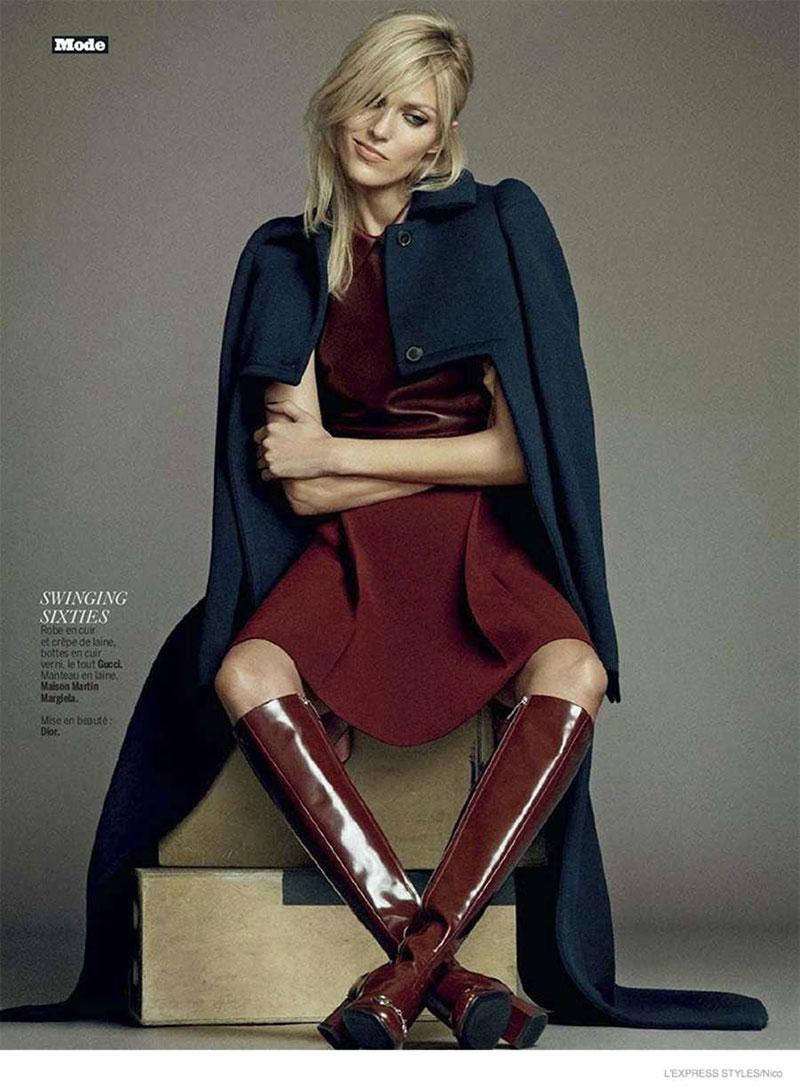 Anja Rubik In L Express Styles Magazine September 2014