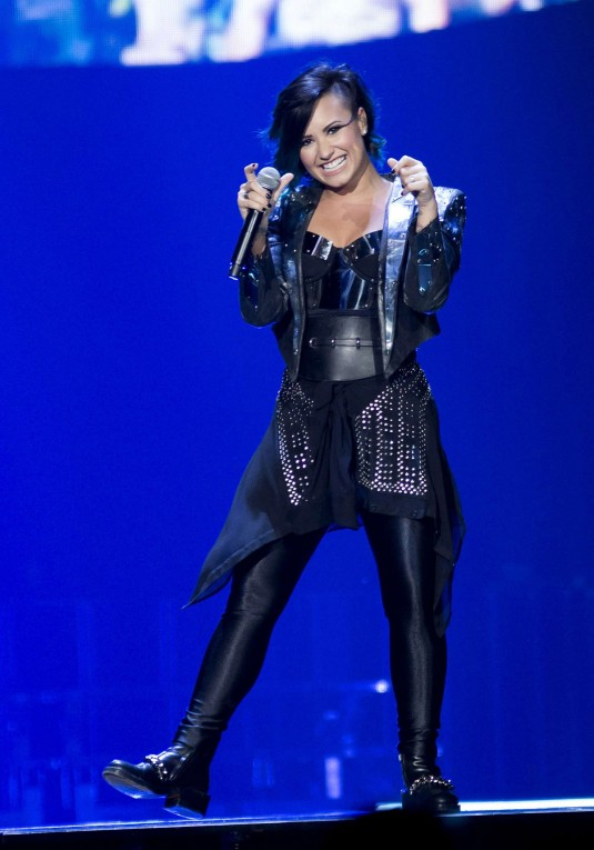 DEMI LOVATO at Neon Lights World Tour