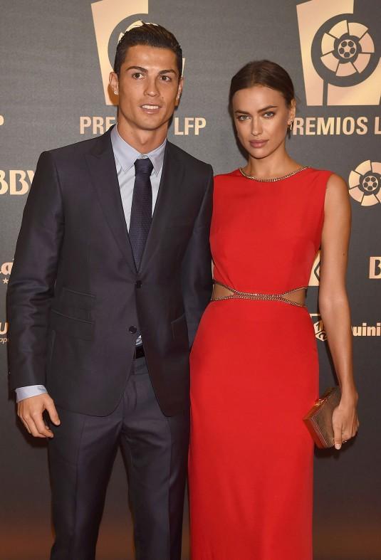 IRINA SHAYK and Cristiano Ronaldo at the Liga de Futbol Profesional Awards