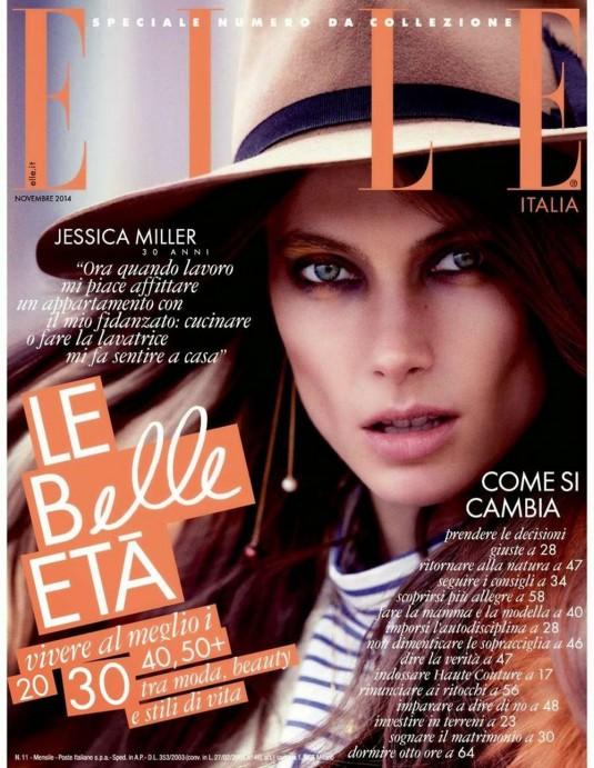 JESSICA MILLER in Elle Magazine