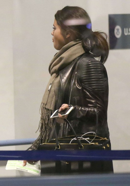 SELENA GOMEZ Departing from LAX