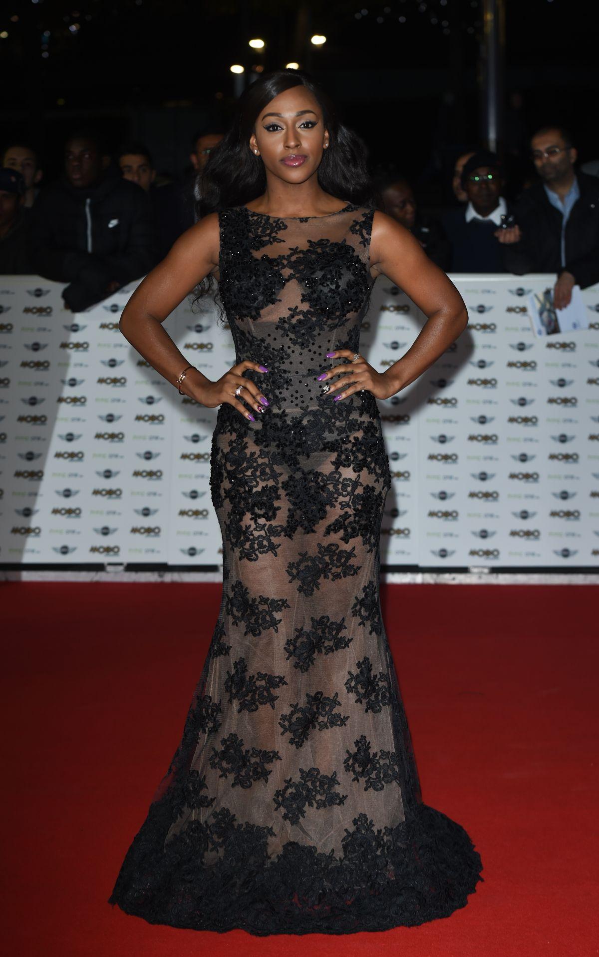 ALEXANDRA BURKE at Mobo Awards in London