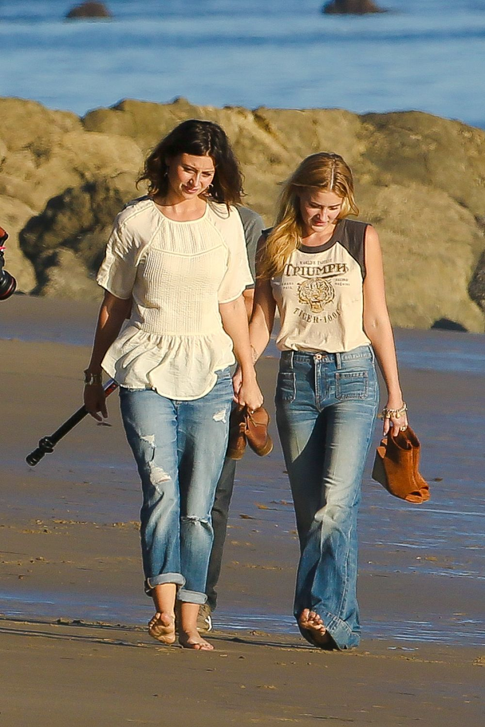 ALY and AJ MICHALKA at a Photoshoot on the Beach in Malibu