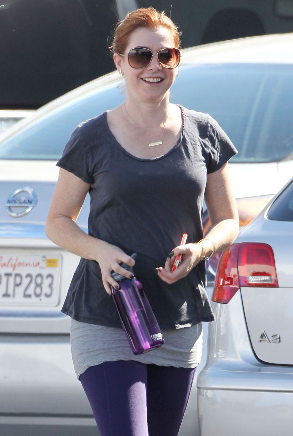 ALYSON HANNIGAN Out Shopping in Santa Monica 2510