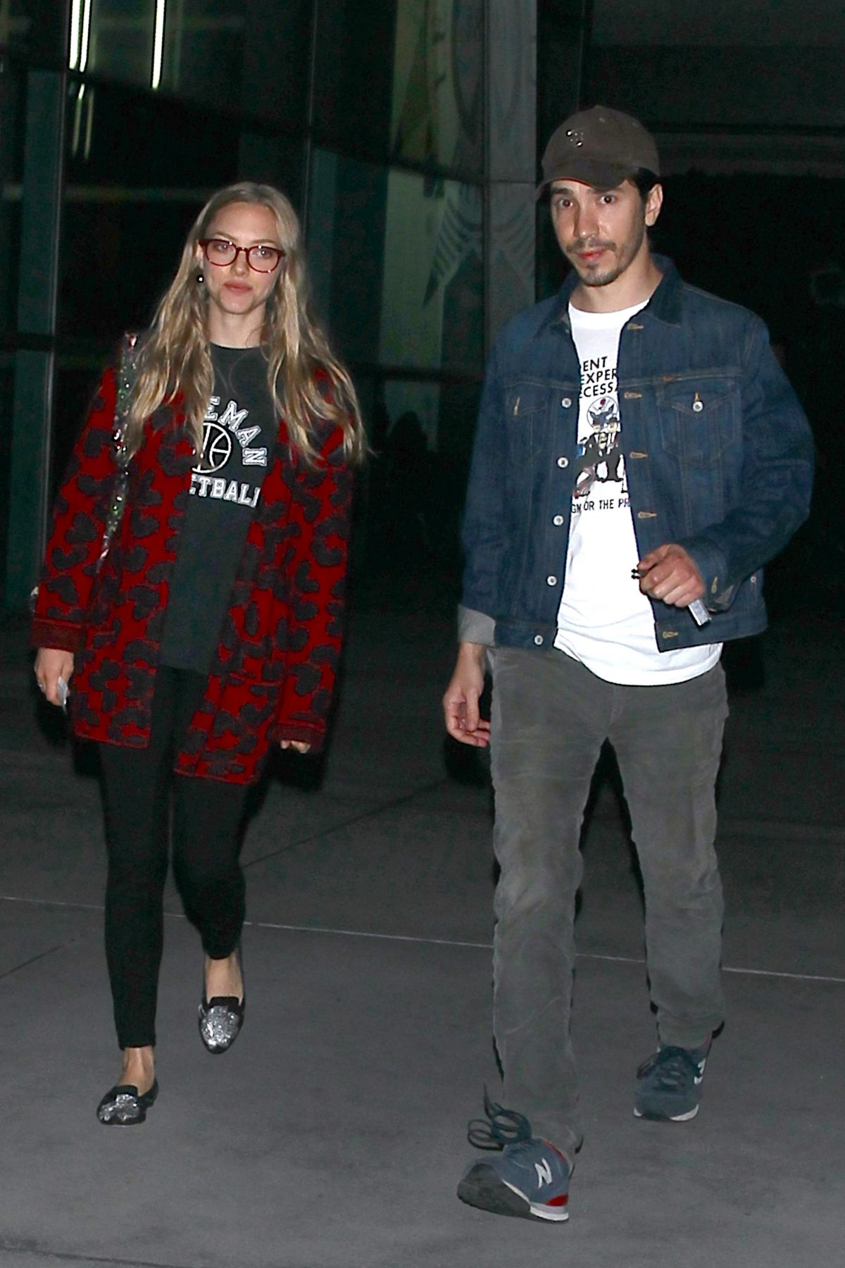 AMANDA SEYFRIED and Justin Long Night Out in Hollywood