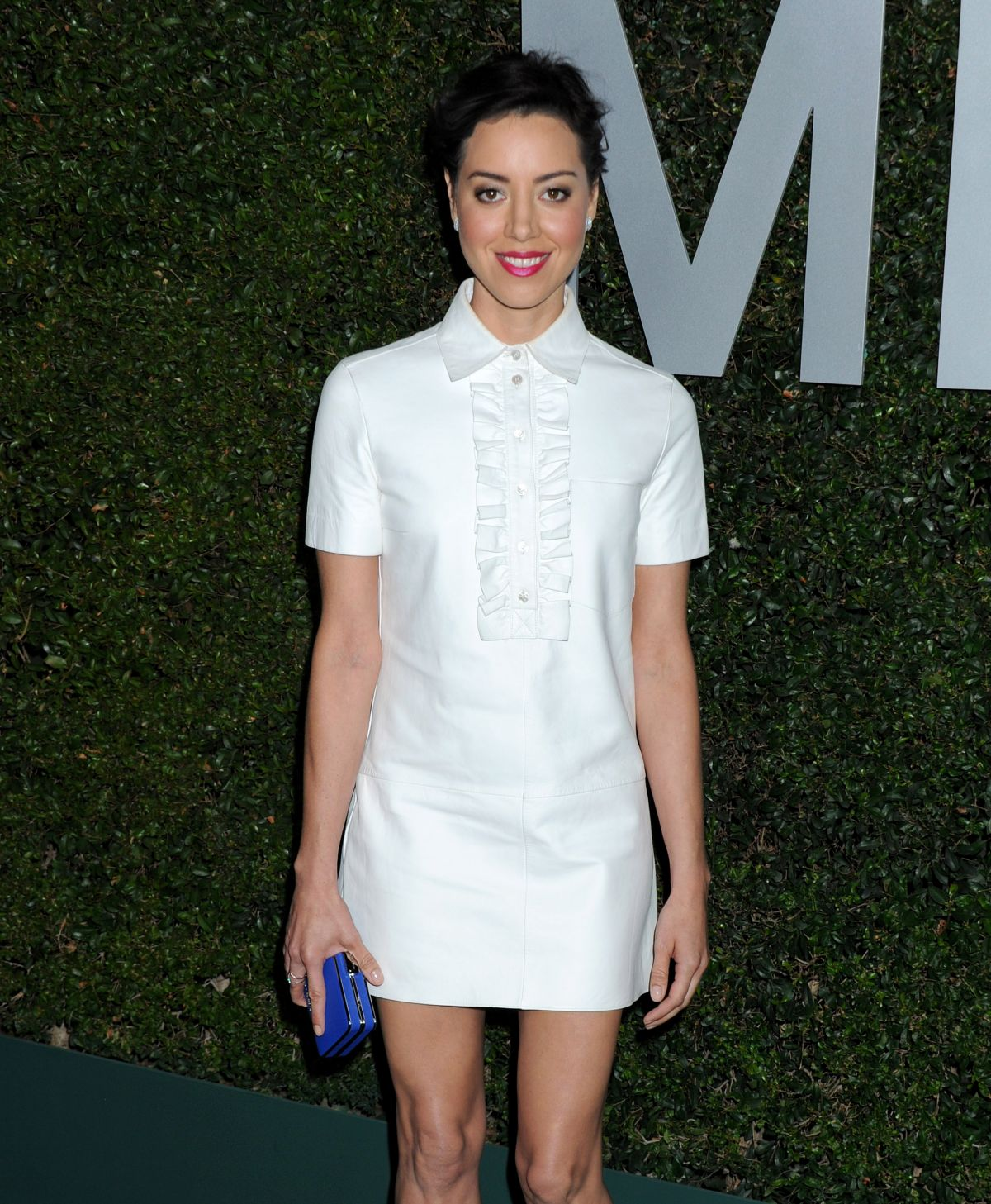 AUBREY PLAZA at Michael Kors Launch of Claiborne Swanson Frank