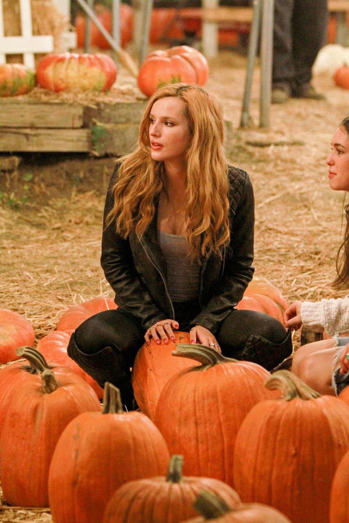 BELLA THORNE at Pumpkin Patch in Los Angeles