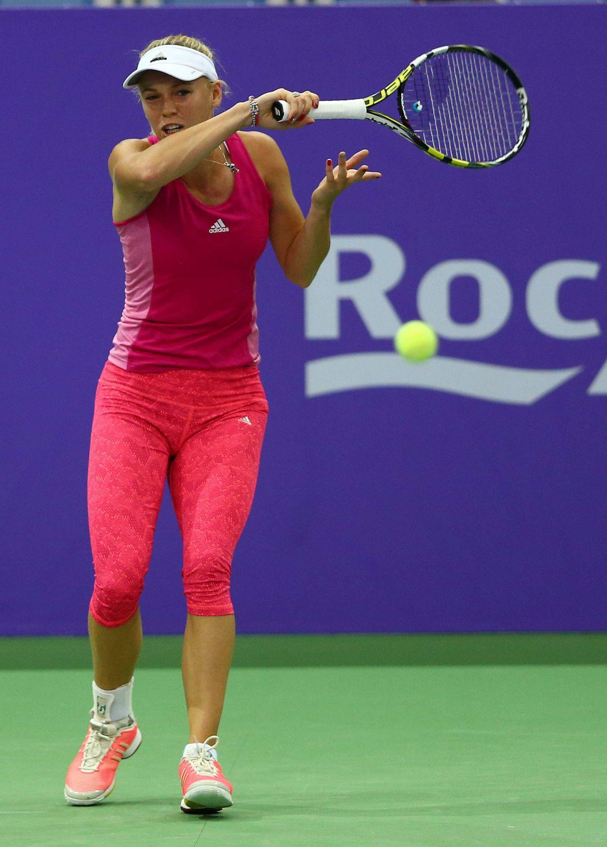 CAROLINE WOZNIACKI at Practice Session at BNP Paribas WTA Finals in Singapore