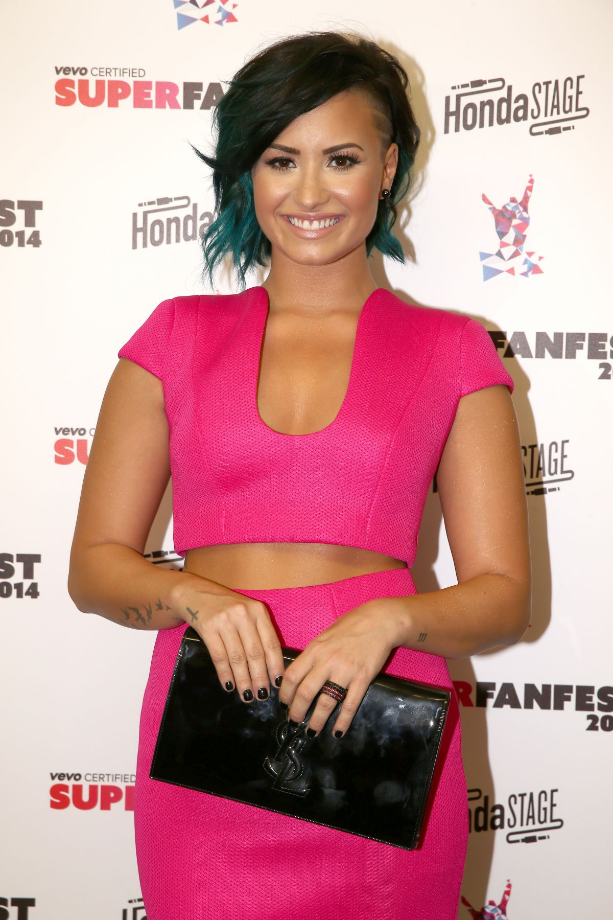 DEMI LOVATO at Vevo Certified Superfanfest in Santa Monica