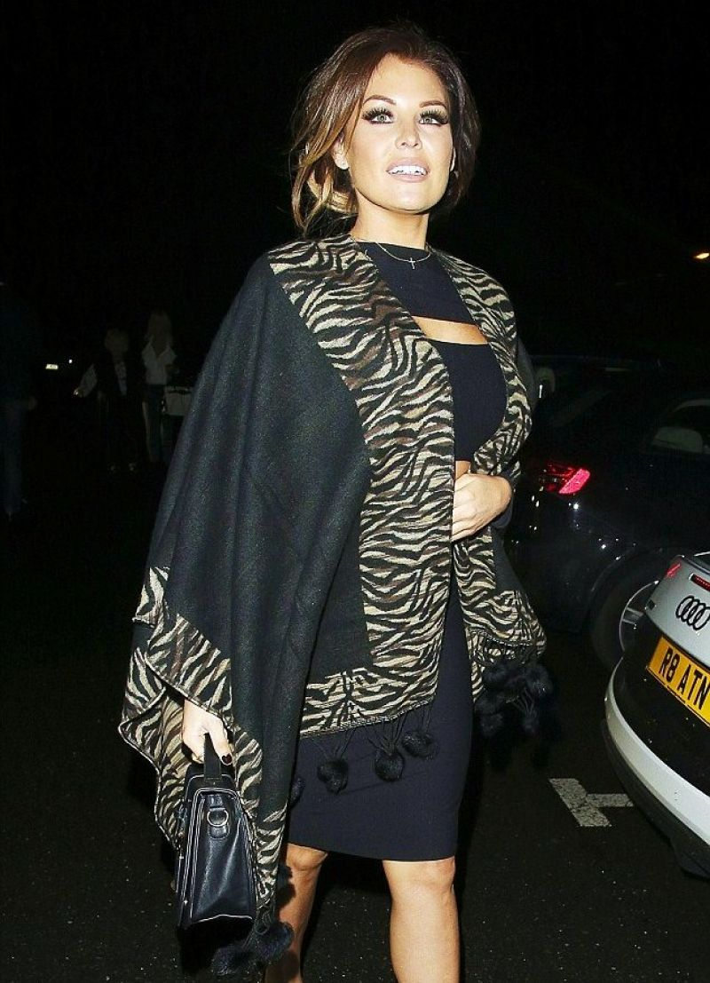 JESSICA WRIGHT Leaves the Sheesh Restaurant in Chigwell