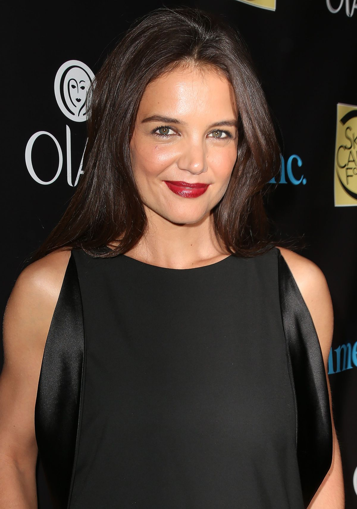 KATIE HOLMES at Skin Cancer Foundation Gala in New York