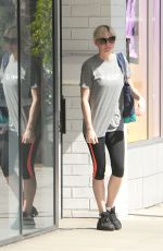 KIRSTEN DUNST in Leggings Leaves a Gym in Los Angeles 0810