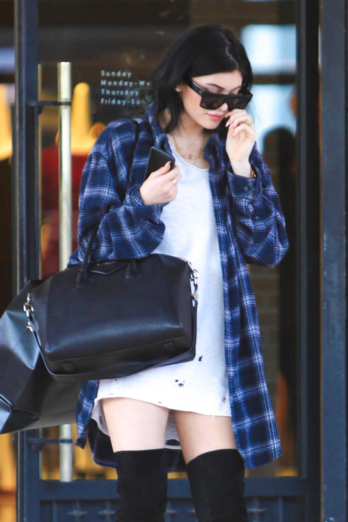 KYLIE JENNER Leaves Barneys New York in Beverly Hills