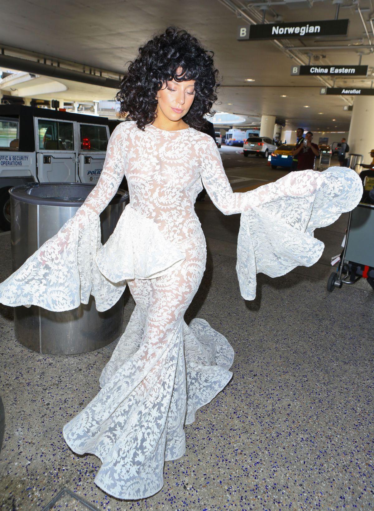 LADY GAGA Arrives at Los Angeles International Airport ...