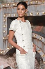 LILY ALDRIDGE at Chanel Dinner Celebrating no. 5 the Film in New York