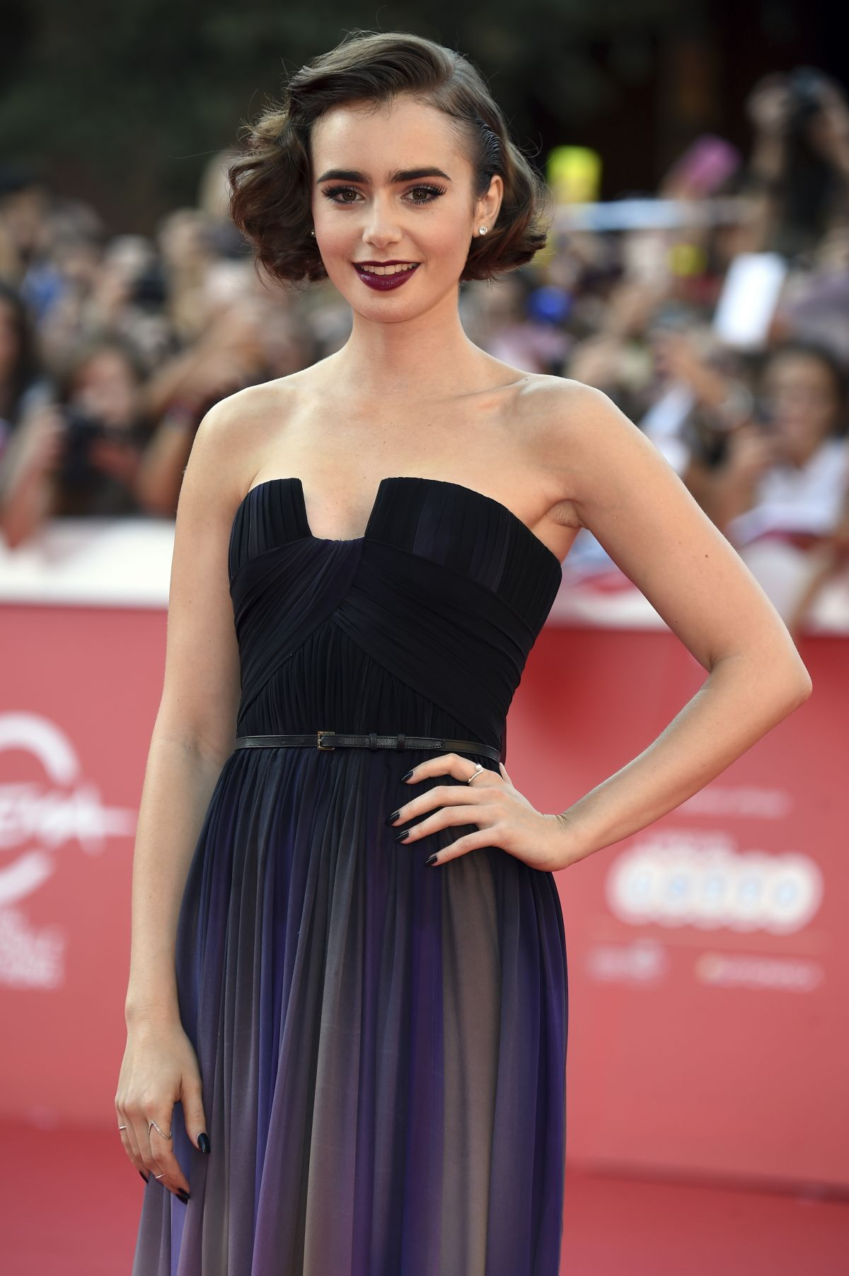 Lily Collins At Love Rosie Premiere At Rome Film Festival