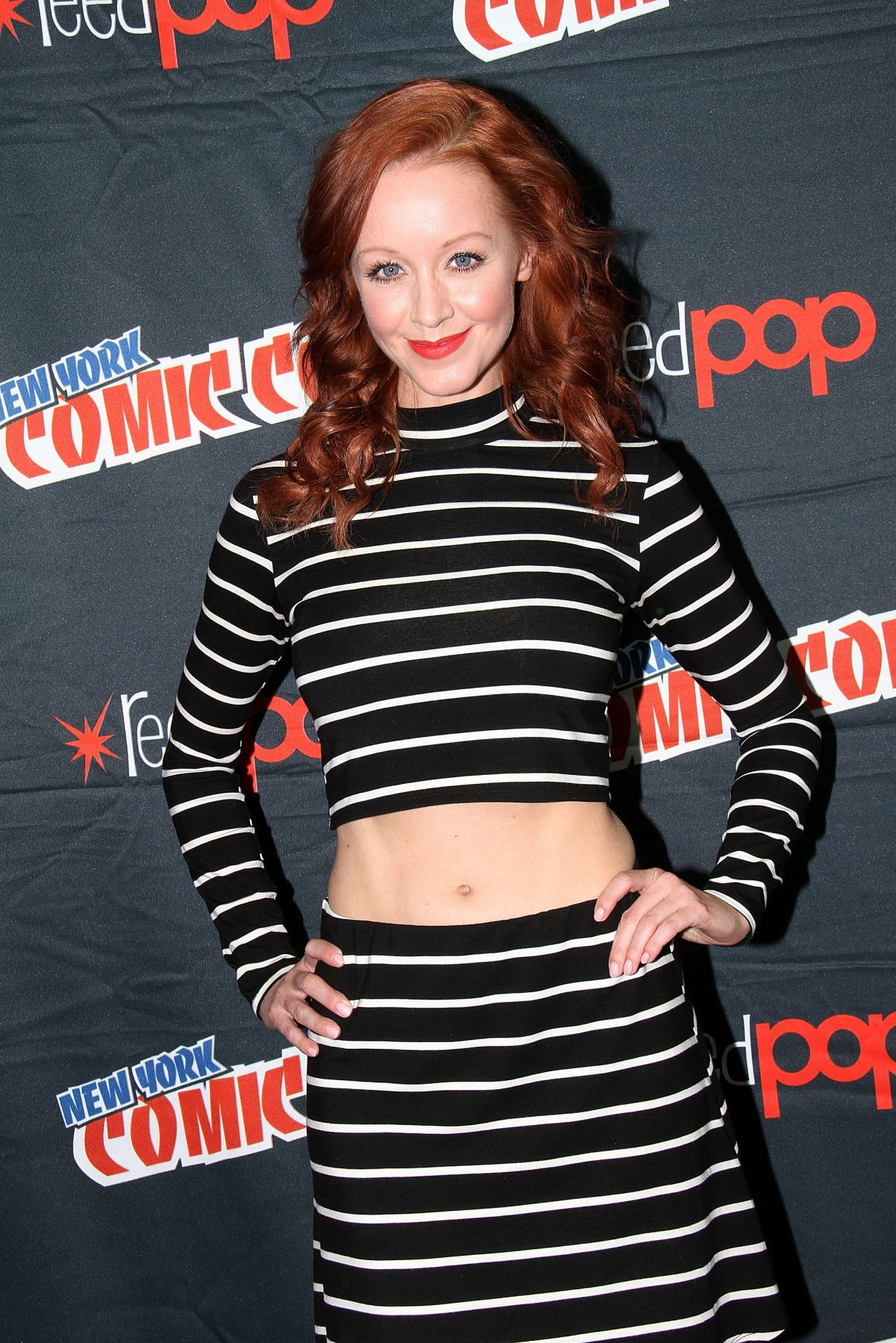 LINDY BOOTH at The Librarians Press Conference at Comic-con in New York